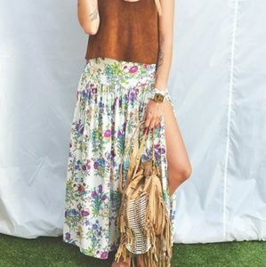 Spell Gypsy Queen floral maxi skirt high waisted